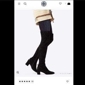 Tory Burch Laila Over the Knee Suede Boots